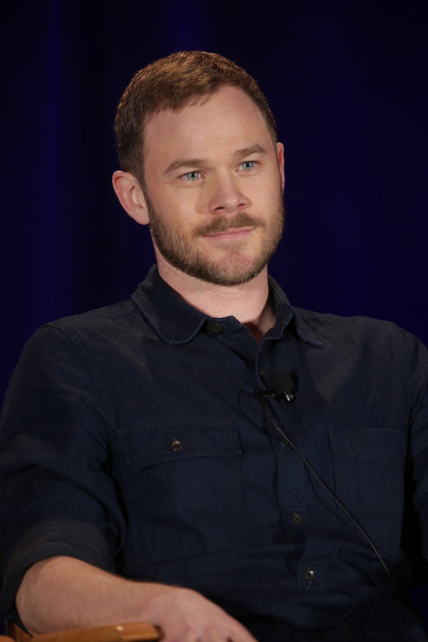 "NBCUNIVERSAL EVENTS -- NBCUniversal Summer Press Day, April 2015 -- Syfy ""Killjoys"" Panel -- Pictured: Aaron Ashmore -- (Photo by: Chris Haston/NBCUniversal)"
